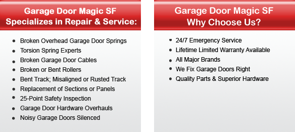Garage Door Repair Burlingame Offers